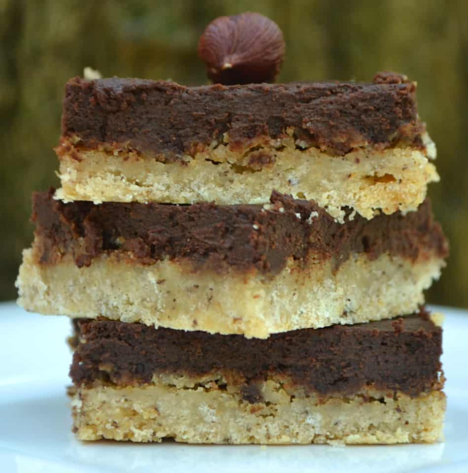 Chocolate Hazelnut Bars | www.craftycookingmama.com
