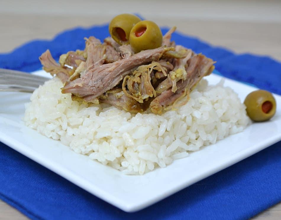 Pressure Cooker Puerto Rican Pork Roast / Pernil | www.craftycookingmama.com