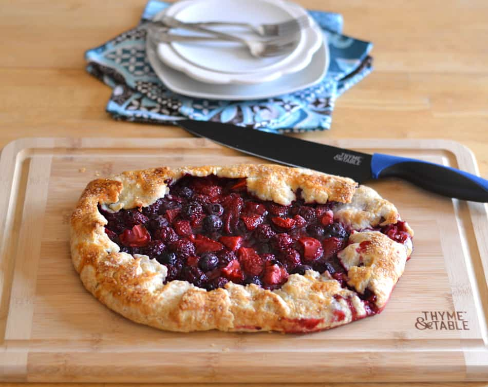Mixed Berry Galette made with strawberry, blueberry & blackberry. It's rustic, beautiful, delicious and so simple to make | www.craftycookingmama.com