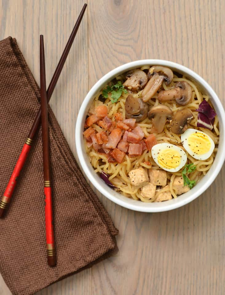 Pork Belly & Tofu Ramen Noodles | www.craftycookingmama.com