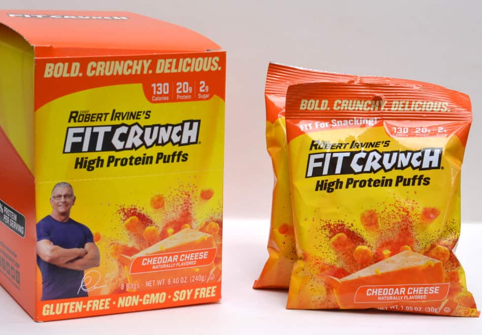 Chef Robert Irvine's FITCRUNCH Cheddar Cheese High Protein Puffs