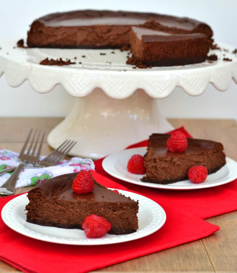 Chocolate Ricotta Cheesecake - Light, Creamy & The Perfect Amount of Cacao Sweetness