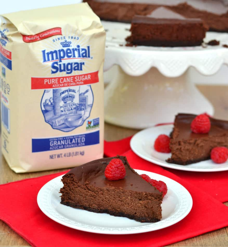 Rich & Creamy Chocolate Ricotta Cheesecake made with Imperial Sugar #Choctoberfest