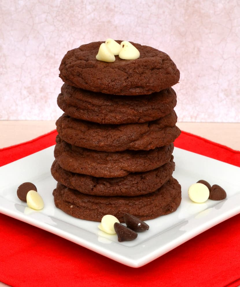 Double Chocolate Chocolate - Chip Cookies