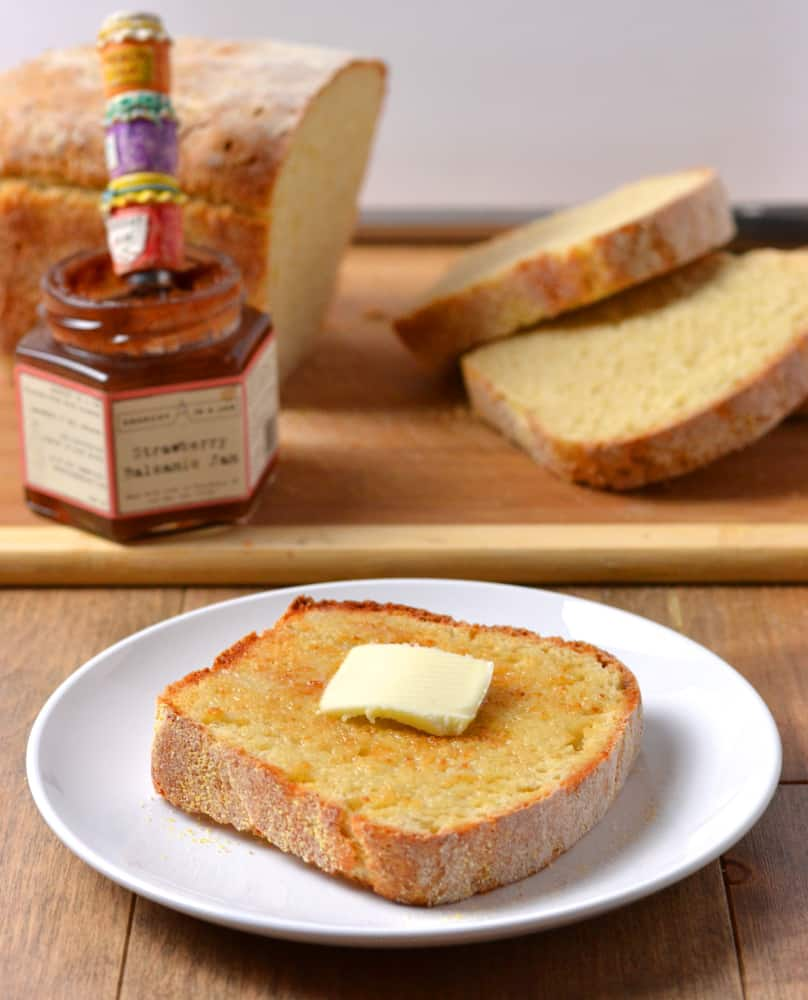 English Muffin Bread - Slice of English Muffin Bread with Butter